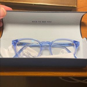 Warby Parky glasses - Percey narrow - light blue